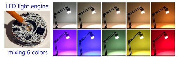 LED Light Engine mixes all the colors of the rainbow to recreate natural light