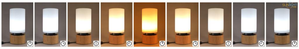 time lapse of bottled sunshine lamp